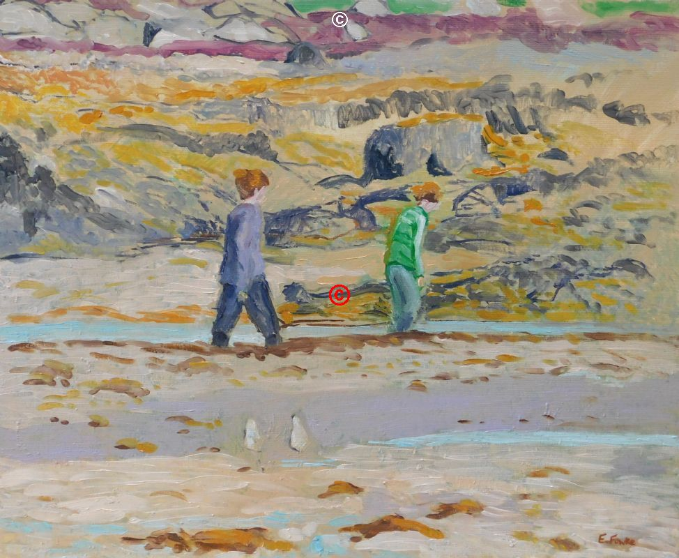 Exploring the Beach Isle of Skye Scotland Oil Painting